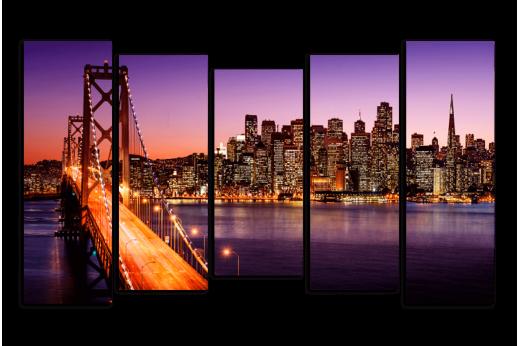Модульная картина Сан-Франциско